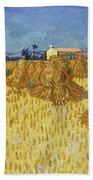 Corn Harvest In Provence Beach Towel