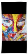 Face Paint Beach Towel