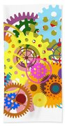 Gears Wheels Design  Beach Towel