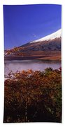 Mount Fuji In Autumn Beach Towel