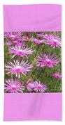 Pink Flowers   Beach Sheet