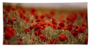 Summer Poppy Meadow Beach Towel