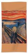 The Scream Ver 1893 Edvard Munch Beach Towel