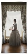 Victorian Woman At The Window Beach Towel
