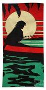 Vintage Hawaiian Art Beach Towel