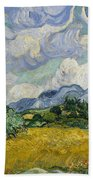 Wheat Field With Cypresses Beach Towel