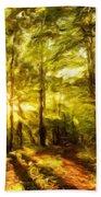 Nature Landscape Paintings Beach Towel