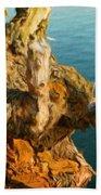 Landscape Drawing Nature Beach Towel