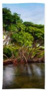 Nature Original Landscape Painting Beach Towel