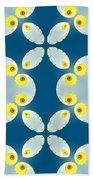 Fractal Floral Pattern Beach Towel