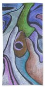 #758 Abstract Drawing Beach Towel