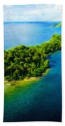 Landscape Drawing Nature Beach Towel