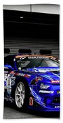 7763 Nissan Tuning Race Cars Blue Cars Selective Coloring Beach Towel