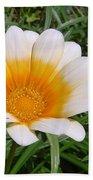 Australia - White Yellow Daisy Flower Beach Towel