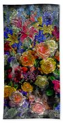 7a Abstract Floral Painting Digital Expressionism Beach Towel
