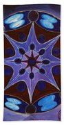 7th Mandala - Crown Chakra Beach Towel
