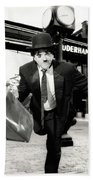 Charlie Chaplin Beach Towel