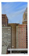 Cleveland Skyline Beach Towel