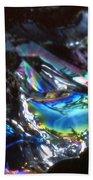 8. Close-up Ice Prismatics, Slaley Sand Quarry Beach Towel