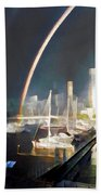 Docklands Double Rainbow Beach Towel