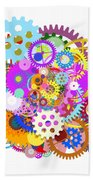 Gears Wheels Design  Beach Towel by Setsiri Silapasuwanchai