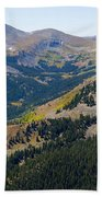 Autumn Tundra Turning To Gold  On Mount Yale Colorado Beach Towel