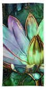 Jeweled Water Lilies Beach Towel