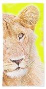 lioness Masai Mara, Kenya Beach Towel