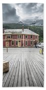 Port Of Skagway Alaska Near White Pass British Columbia Canada Beach Towel