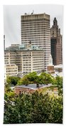 Providence Rhode Island City Skyline In October 2017 Beach Towel