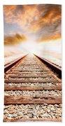 Railway Tracks  Beach Towel