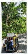 Tuk Tuk Trike Taxi Local Transport In Boracay Island Philippines Beach Towel