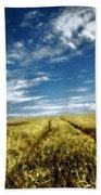 Landscape Oil Painting For Sale Beach Towel