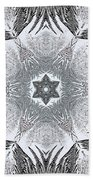 Fern Frost Mandala Beach Towel