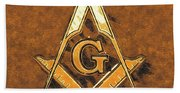 Freemason, Mason, Masonic Symbolism Beach Sheet