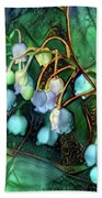 Jeweled Water Lilies Beach Towel