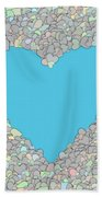 Love Heart Valentine Shape Beach Towel