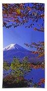 Mount Fuji In Autumn Beach Sheet