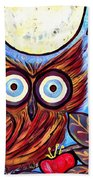 Owl Midnight Beach Towel