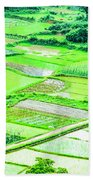 Rice Fields Scenery Beach Towel