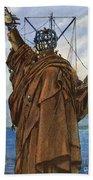 Statue Of Liberty 1886 Beach Towel