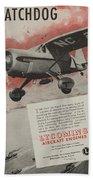 World War II Advertisement Beach Towel