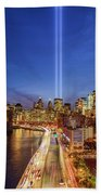 911 Tribute In Light In Nyc II Beach Towel
