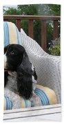 #940 D1052 Farmer Browns Springer Spaniel Beach Towel