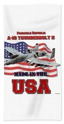 A-10 Thunderbolt Made In The Usa Beach Towel