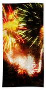 A 4th Celebration  Beach Towel