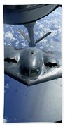 A B-2 Spirit Moves Into Position Beach Towel by Stocktrek Images