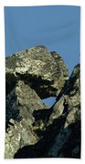A Balancing Rock  Beach Towel
