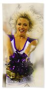 A Baltimore Ravens Cheerleader  Beach Towel