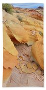 A Band Of Gold In Valley Of Fire Beach Towel